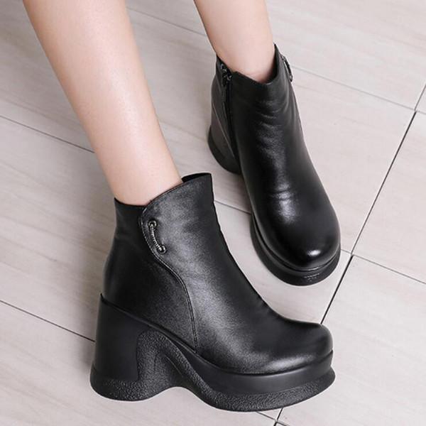 GKTINOO 2020 Women Winter Boots Size 34~40 Warmest Genuine Leather Russian style Women Snow Boots