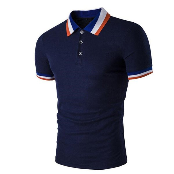 good quality 2019 Top Fashion New Brand Men's Polo Shirts Summer Style Polos Short Sleeve Solid Shirt Jerseys Blouse