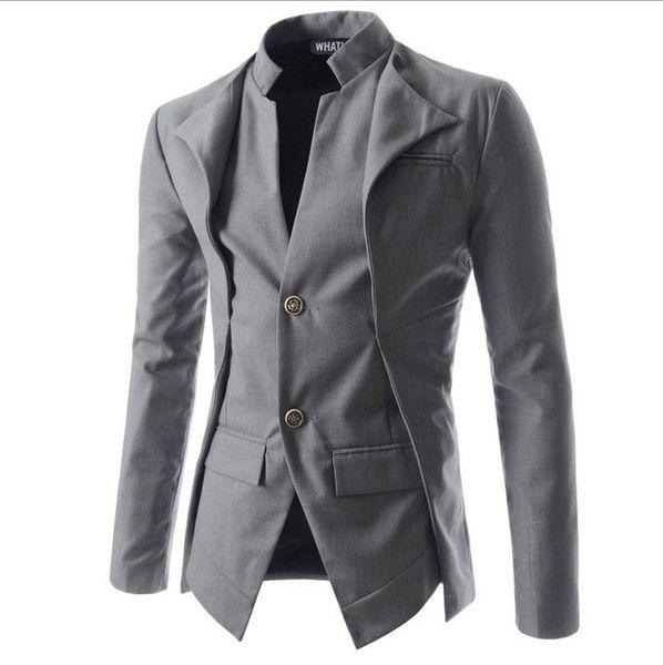 Nouvelle arrivée Casual Slim Fit élégant One Button Costume Hommes Blazer Manteau Vestes Homme Fashion Vêtements