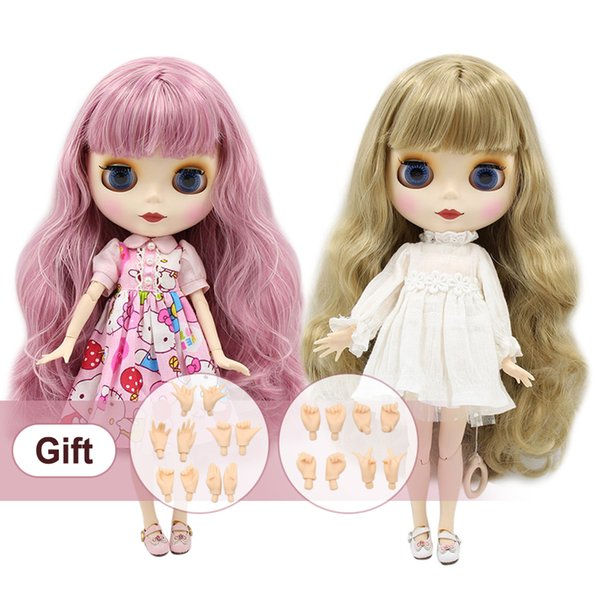Blyth Doll Nude Normal And Joint Body Different Type Fashion Cute Bjd Dolls Suitable Diy Makeup With Hand Set A&b Q190530