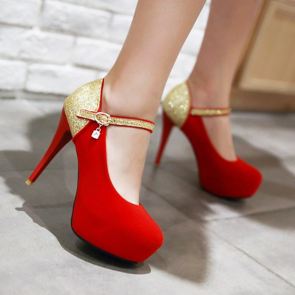 Plus Size 40 41 42 43 44 45 Wedding Shoes Red Heels High Platform Heels Stiletto Shoes Small Size 33 34