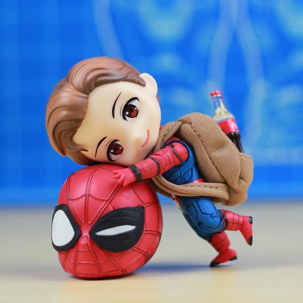 Regreso a casa Cute Spider Man Anime Figuras Figuras de acción Regalos de Navidad Juguetes Cumpleaños Regalos Muñeca Nuevo Arrvial PVC Envío gratis