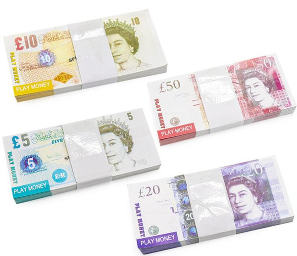 Spielgeldspielzeug Britische Pfund GBP Britisch 5 10 20 50 Das Gedenkspielzeug der Königin für falsches Papiergeld Für Kinder Cosplay oder Videofilm