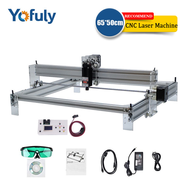best selling 10w 15w big laser 65*50cm engraving machine, CNC DIY laser module marking machine,laser engraver+Offline module