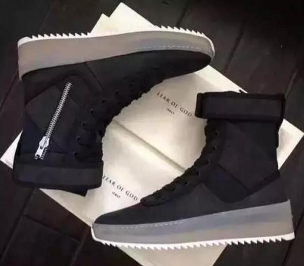 kingseller777 / 2019 hotblack Vermelho Branco Melhor Medo Qualidade de Deus Top Militar Sneakers Exército Hight Botas Homens e Mulheres moda sapatos Martin Botas TA