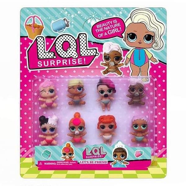 LoL Dolls PVC Kawaii Children Toys Anime Action Figures Dolls for Girls 8pcs/lot Kids Toys 3.8cm