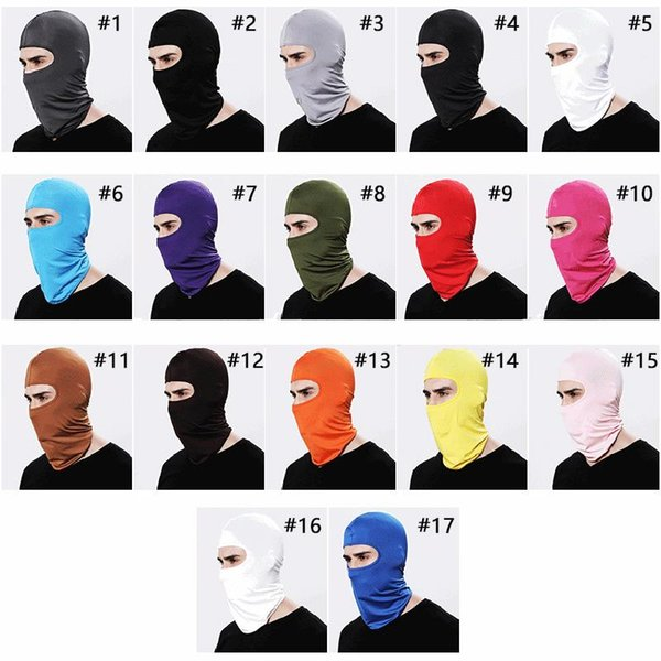 17 Colors Balaclava Face Mask Adjustable Windproof Ski Mask Headwear Neck Warmer for Skiing Cycling Motorcycle Hiking and Outdoor Sports