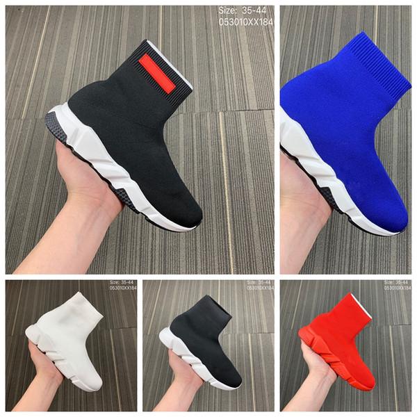 Zapatos de calcetín de lujo Calzado casual Speed Trainer Zapatillas de deporte de alta calidad Speed Trainer Calcetín Race Runners zapatos negros hombres y mujeres Zapato de lujo M2