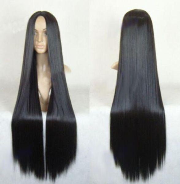 ÜCRETSIZ KARGO + + YENI Uzun Düz Cosplay Kostüm Partisi Saç Peruk Kostüm Peruk 40