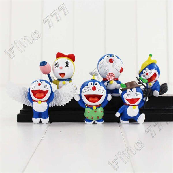 6 Pcs/Set New Arrival Anime Doraemon Action Figures Cute Doraemon PVC Dolls Collection Kids Gift