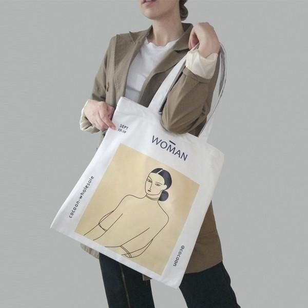 Women Canvas Shoulder Bag Henri Matisse Painting Printing Ladies Shopping Bag Feminina Simple Eco Pure Cotton Cloth Handbag Tote