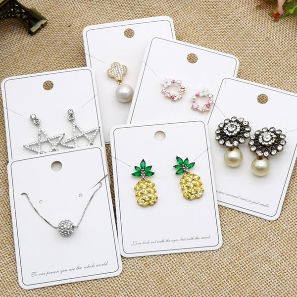 2019 5x7cm Rectangle Shape Concise Style Popular Earrings Necklace Display Cards Diy Jewelry Packaging Paper Hang Tags From Yongq 42 18 Dhgate Com