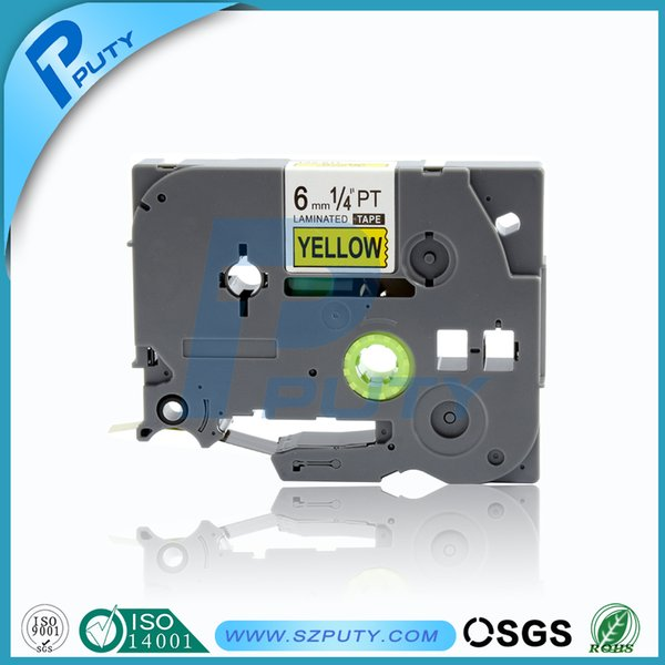 """PT-1700 Label Maker Black on Yellow P-touch Tape for PT1700 18mm Brother 3//4/"""""""