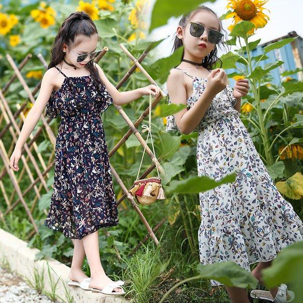 Kids Girls Summer Beach Dress Fashion Causal Floral Sleeveless Dress 11 Styles