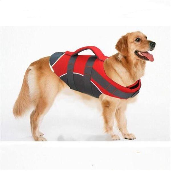 Dog Clothes Pet Dog Life Jacket Vest For Small Large Dogs Pug Labrador Golden Retriever Harness Saver Vests Oxford Clothing S-XL