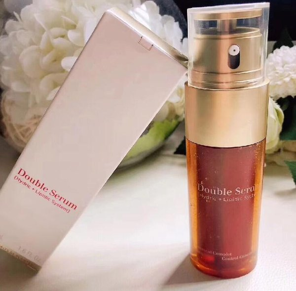 best selling 2019 New instock Double Serum Moisturizing Lotion Facial Essence 50ml skin care Great quality New arrival famous brand