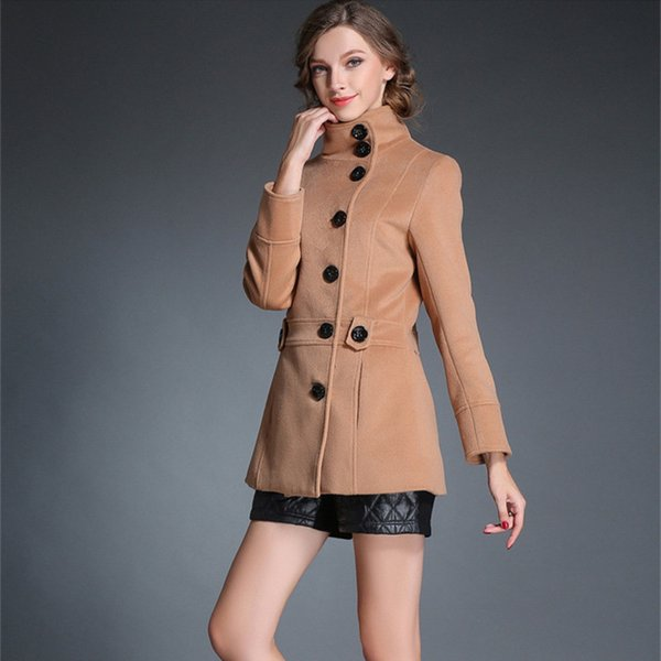 Women Spring Wool Long Coat 2019 Vintage Elegant Clothes Fashion Korean Camel Coat Oversize