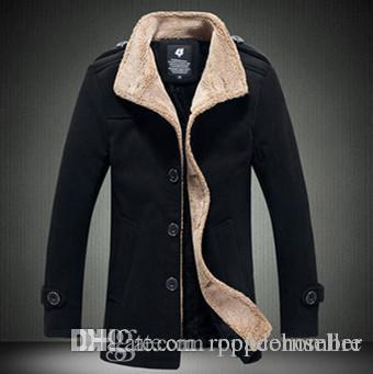 autumn winter mens designer medium length trench coats lapel neck long sleeve outerwear casual middleaged and elder coats