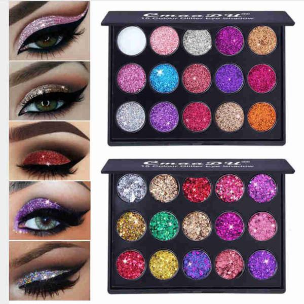 CmaaDu Glitter Eyeshadow Palette Glitter Magnet Palette Long Diamond Diamond et chatoyant Pigment pour les yeux brillants Cosmétiques coréens