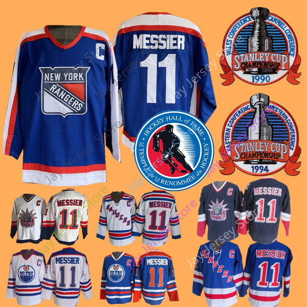 sports shoes b6cc5 5d531 2019 Mark Messier Jersey 1990 1994 Stanley Cup Ice Hockey Hall Of Fame  Patch Edmonton Oilers New York Rangers Jerseys CCM Home Away From  Morejersey, ...