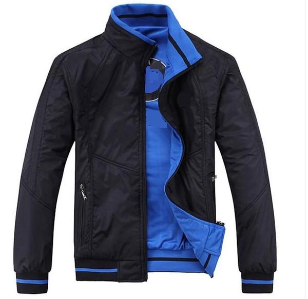Envío gratis nuevo 2019 período de primavera y otoño y la chaqueta doble para la moda de ocio abrigos chaquetas ropa de hombre