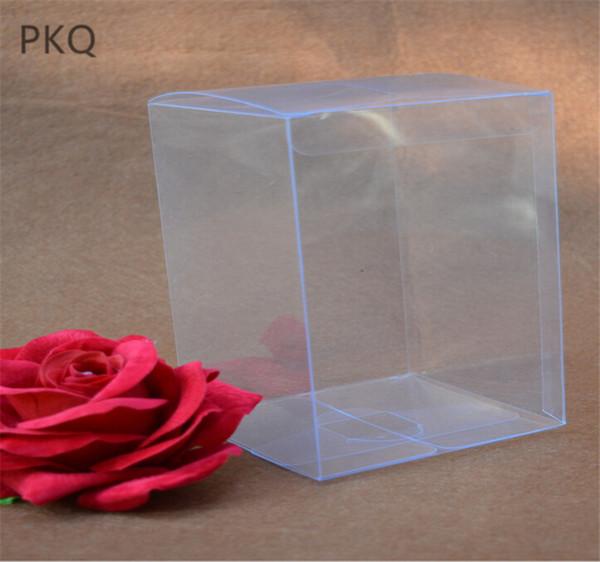 30pcs PVC Caja de regalo grande Claro plaza Macaron de envases de plástico transparente para boda de la caja de la magdalena Macaron