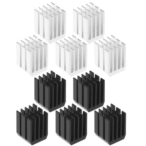 5Pcs/Set 9*9*12mm Aluminum Cooling Heat Sink Chip RAM Radiator Heatsink Cooler