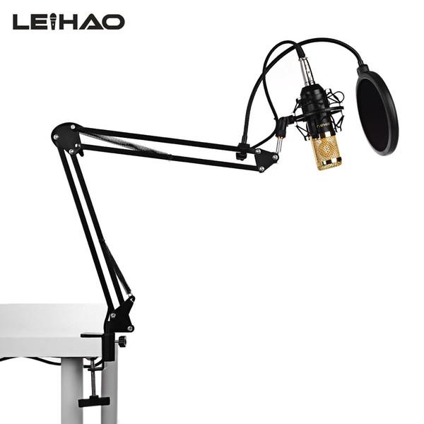LEIHAO BM800 Professional Desktop Condenser Microphone for Studio Broadcasting Recording Microphone kit