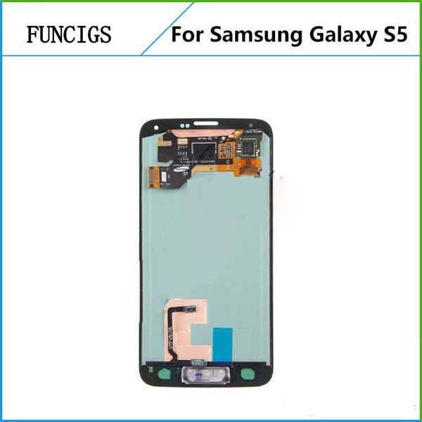 LCD display panel mobile phone accessory for Samsung galaxy s5 I9600 G900F LCD touch screen digitizer assembly replacement