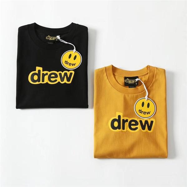 Justin Bieber Drew House Männer Frauen Beste Qualität Top Tees T-Shirt Sommer Stil Drew House T-Shirts