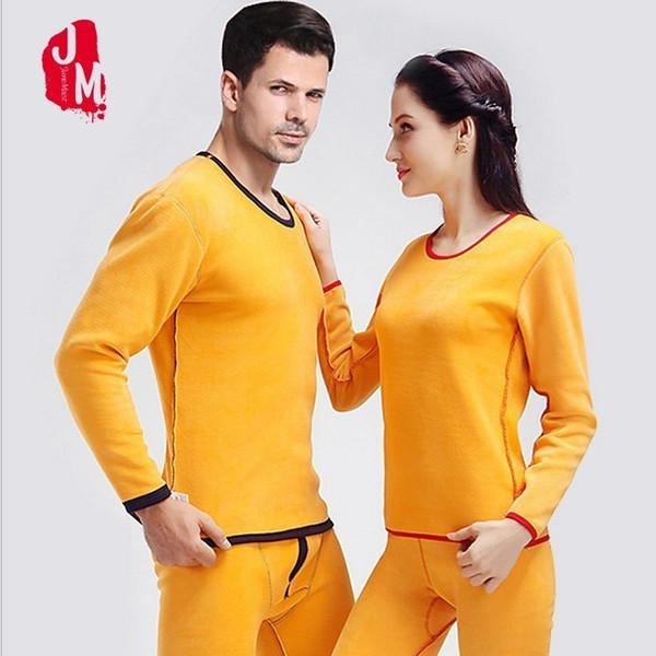 Winter Men Warm Thermal Underwear Women Long Johns Sexy Thermal Underwear Sets Thick Cashmere Velvet Mens Long Johns