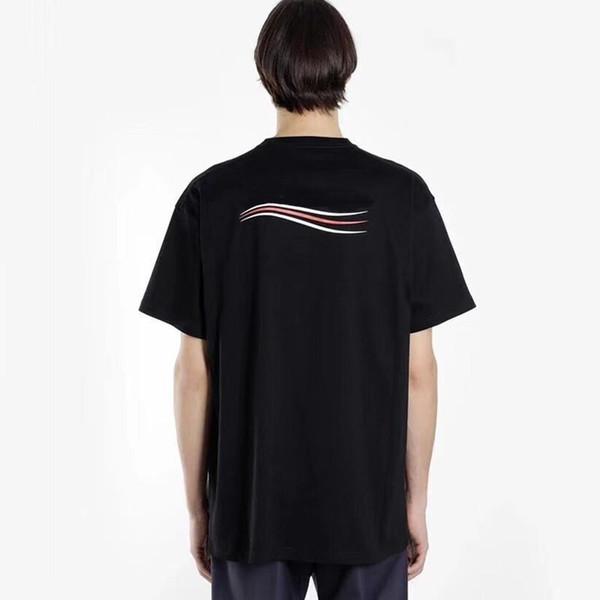 19SS Men Women Summer T Shirt Street Fashion Designer Logo Print Short Sleeves Breathable Casual Solid T-shirt Tee HFYMTX417