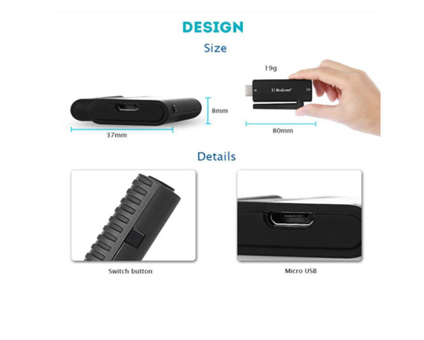 WiFi Display Dongle 1080P Wireless HDMI Adapter DLNA Streaming Cast Screen from iPhone iPad Android Devices to TV Projector
