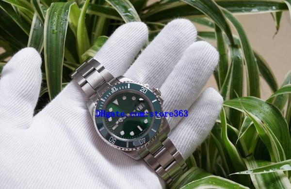 Orologio di Lusso Glide Lock Verschlussband Herren Neue Automatikuhr Grüne Uhren 116610LV Orologio Automatico Armbanduhr Orologi da Uomo