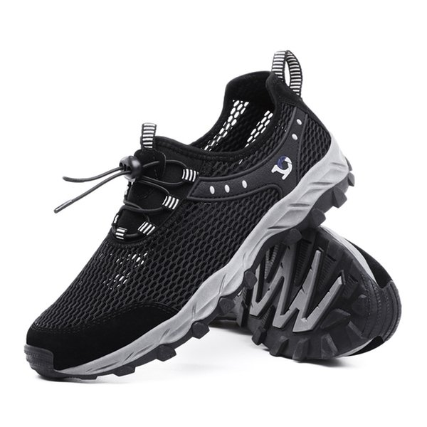 2019 Sneakers Summer Couple Breathable Hollow Mesh Shoes Climbing Upstream Anti-Skid Sneakers Dropshipping zapatos de hombre
