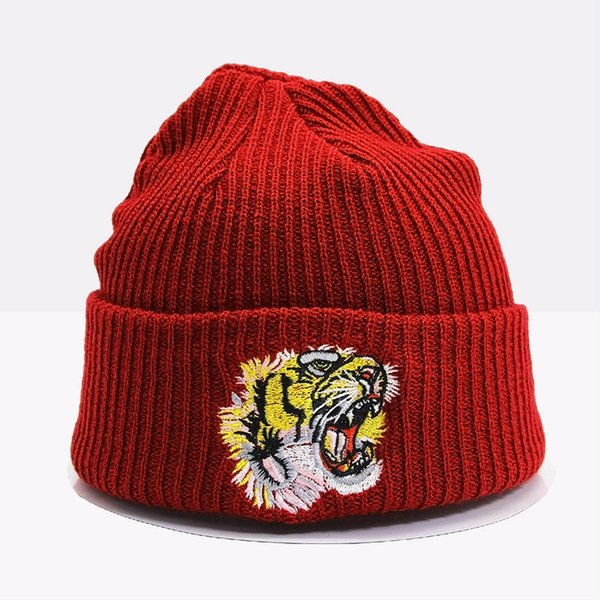 Hip Hop Animal Children Caps Tiger Embroidery Autumn Winter Fashion Skullies Beanies Outdoor Casual kids' Sport Hats Baby Cap