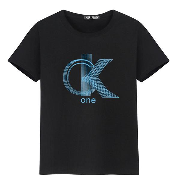 Grand Stock Taille S à 5XL D'été T-shirt À Manches Courtes Pour Hommes Col Rond Décontracté Lâche Lettre Impression Respirant T Shirt Homme