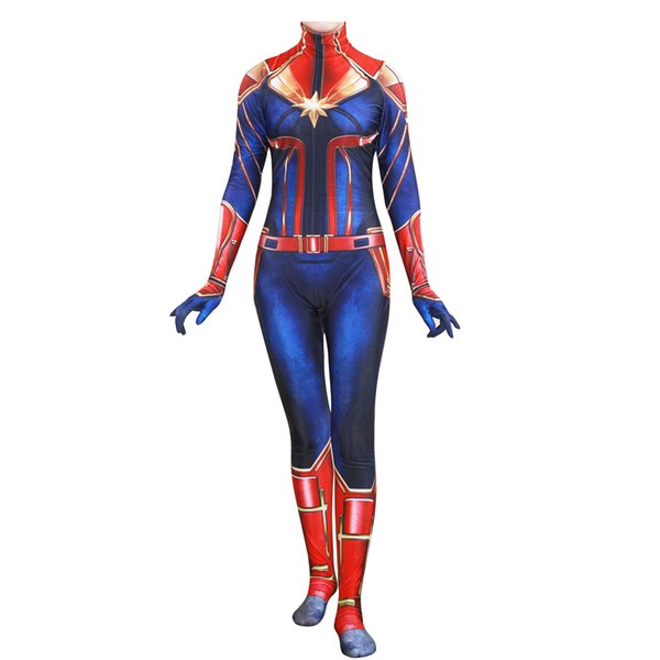 Halloween Enfants Filles Capitaine Marvel Cosplay Costume Enfants Super-Héros Ms Marvel Carol Danvers Combinaison