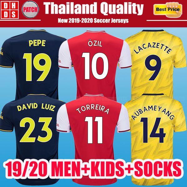 formalar Arsenal futbol forması PEPE D CEBALLOS futbol forması 19 20 AUBAMEYANG Lacazette 2019 2020 Xhaka üniformaları gömlek OZil football kit third jersey foo