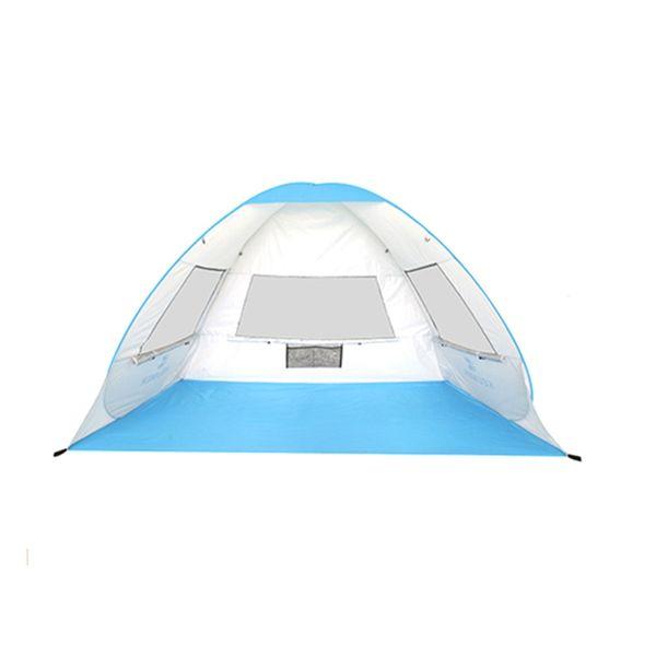 KEUMER Tienda de playa emergente automática instantánea Ligero 1-2 Personas Tienda al aire libre Protección UV Camping Cabaña Sun Shelter
