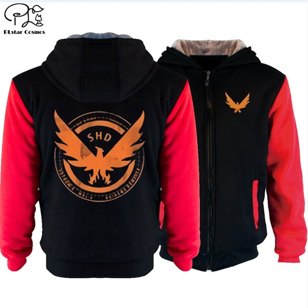 SHD eagle Men Sweatshirt Halloween Christmas hoodies Winter newest autumn winter fleece Thicken jacket tracksuits coat
