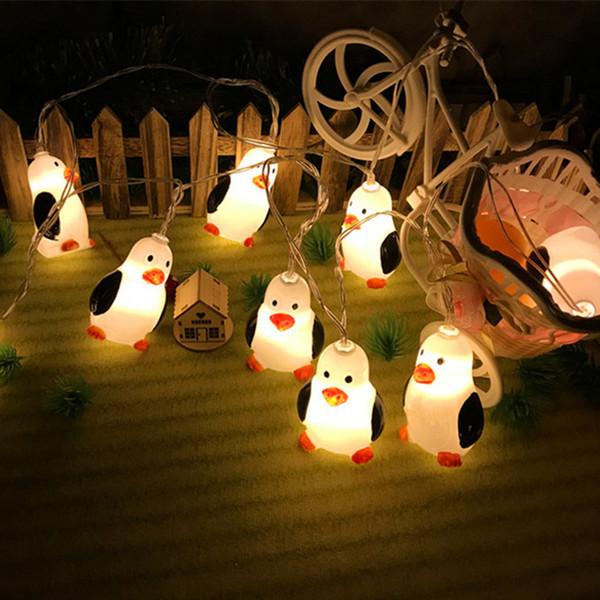 guirlande lumineuse pour les enfants décoration de Noël Pingouin chaîne d'animaux la lumière de la batterie sur l'arbre de vacances et décor d'anniversaire a conduit