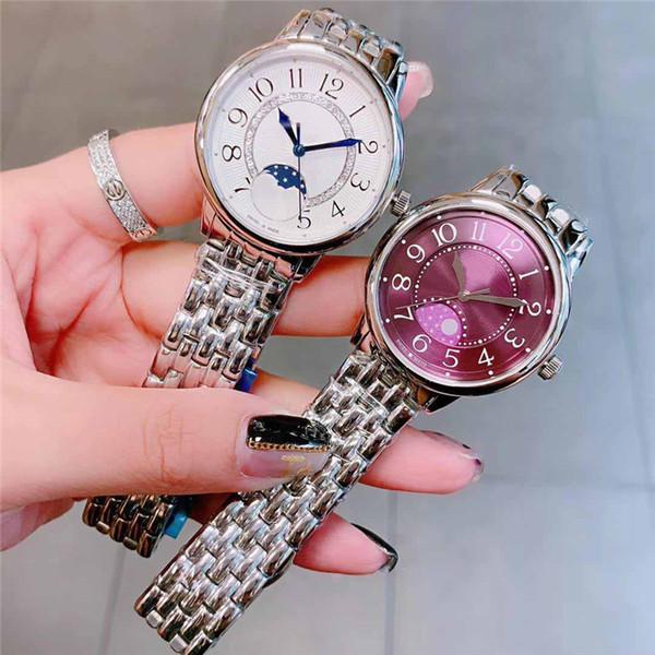 Luxusfrauen Entwerfer passt Damendiamantuhr mit 24 Stunden Mondphasensaphir importiertem Quarzwerk auf Armbanduhren orologio di lusso