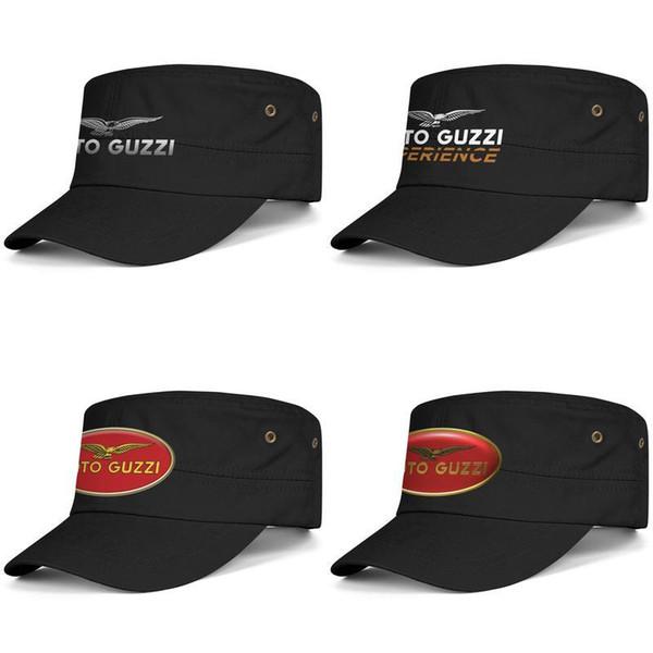 Мото Guzzi Мотоцикл Логотип черный Женская шапка Мужская Шапка Папа Шляпы Защита от солнца