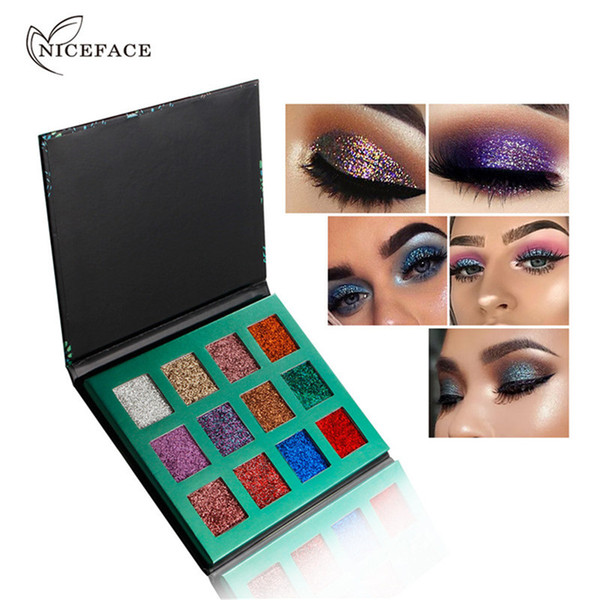 2018 NICEFACE New Glitter Eyeshadow 12 colores Refill Palette Cosmetic Shimmer Makeup Eyes Shadow