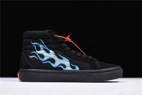 2018 buty odebrane gdzie kupić NO.1Vans Vault X WTAPS OG SK8 HI LX BLUE Flames Sk8 OG UA Hi LX V003T0UA3  Shoes Sneakers With Box Cheap Shoes For Women Leather Shoes From Szh05, ...