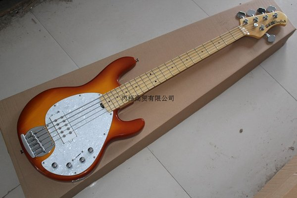 Top Quality music man StingRay5 strings Signature bass with active pickups 9V battery Electric Bass Guitar