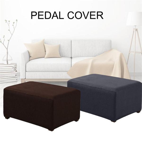 Elastik Koltuk Kapak Sandalye Footstool Ayak-dinlenme Pedales Dışkı Bench Yastık Ev Mobilyaları Koruyucu Çıkarılabilir SlipcoverQ259 Kapaklar