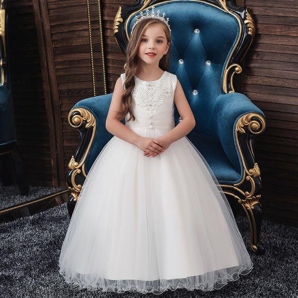 Kids Girl Party Tutu Dress Pageant Wedding Birthday Piano Performance Dress