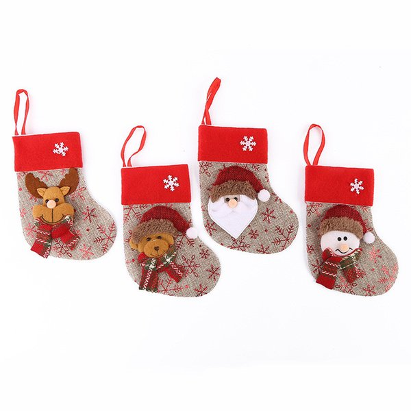 12 Pcs Christmas Stocking Decorations for Home Christmas Tree Ornaments Candy Gift Bags Kids Gifts New Year Party Decor 5ZDZ769